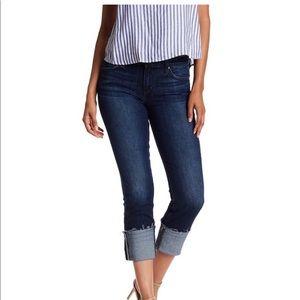 Joes cropped cuffed jeans Eda in dark wash